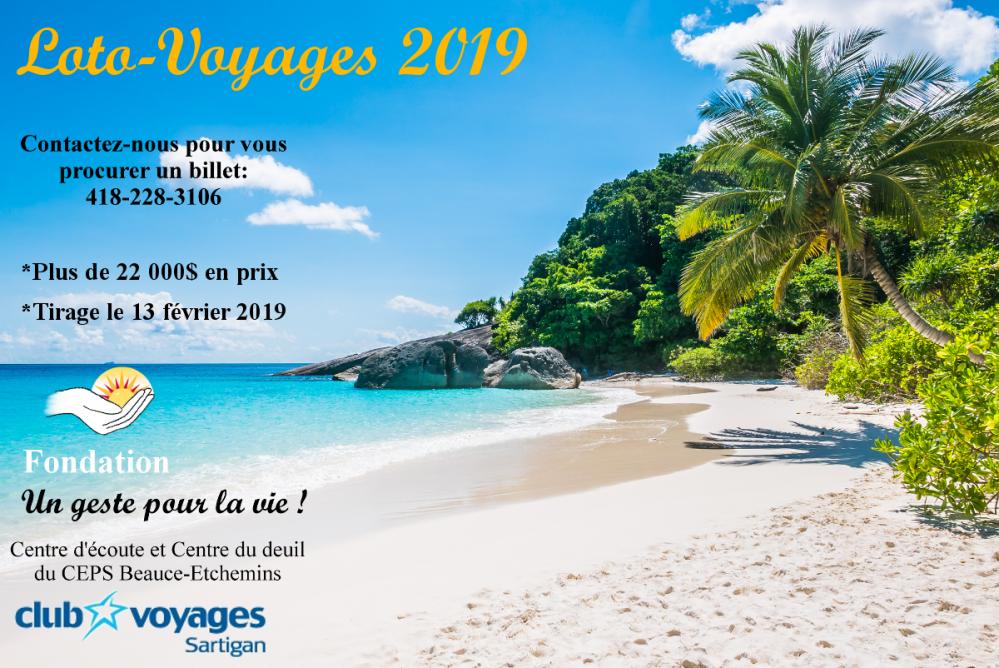 Pub loto voyage 2019